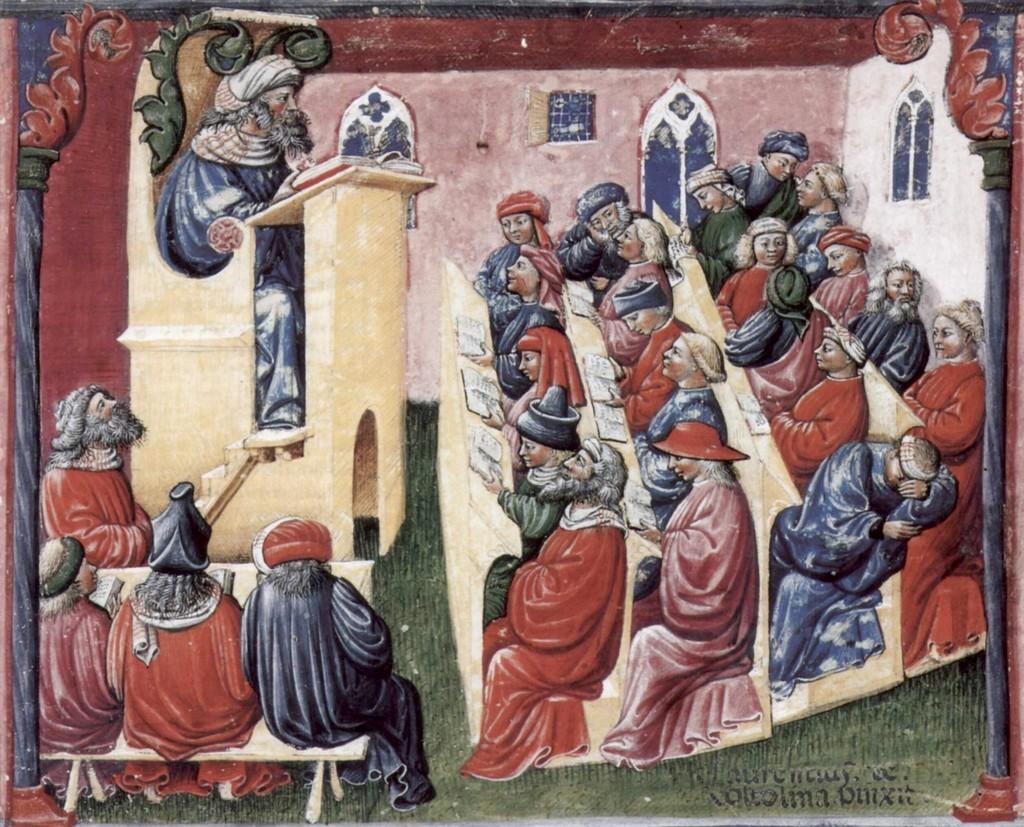 Forelesning på 1300-tallet